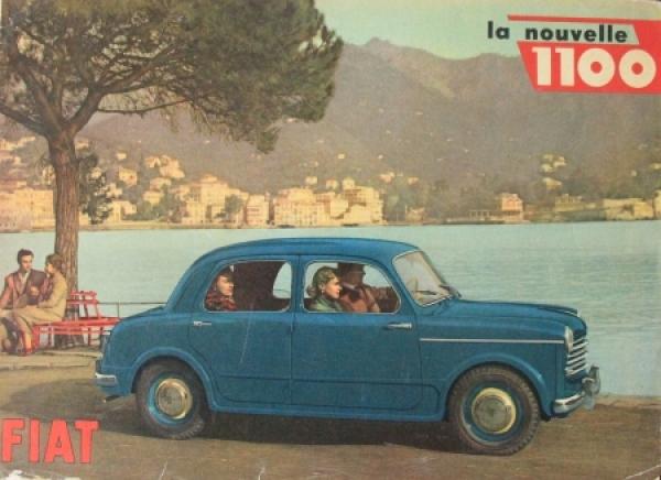 Fiat 1100 Modellprogramm 1950 Automobilprospekt