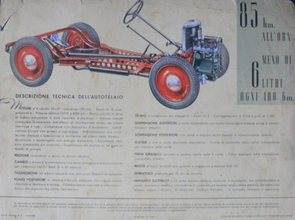 Fiat 500 Belina 1939 Automobilprospekt 1