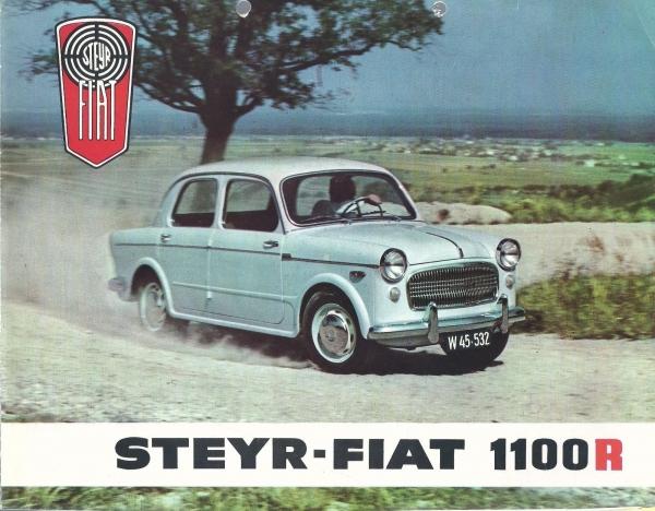 Steyr-Fiat 1100 R Modellprogramm 1958 Automobilprospekt