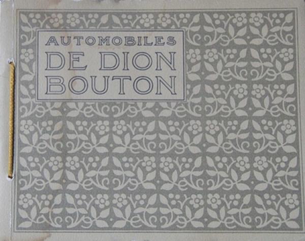 De Dion Bouton Voiture de Ville 1912 Automobilprospekt