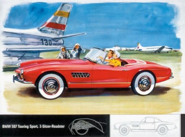BMW 507 Touring Sport Roadster 1957 Automobiliprospekt