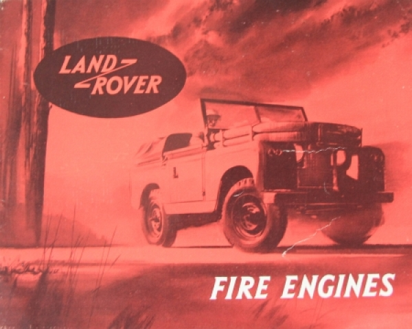Land-Rover Fire Engines 1954 Automobilprospekt