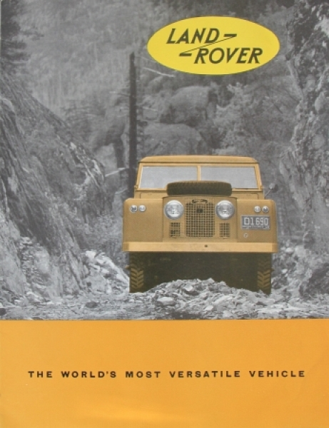 "Land-Rover ""The Worlds most versatile vehicle"" 1956 Automobilprospekt"