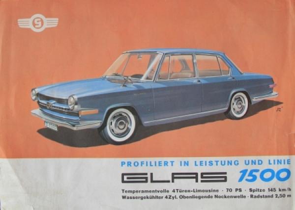 """Glas 1500 """"Profiliert in Leistung"""" 1963 Automobilprospekt"""