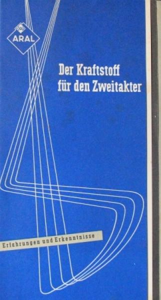"""BV Aral """"Der Kraftstoff für den Zweitakter"""" 1952 Tankstellenprospekt"""