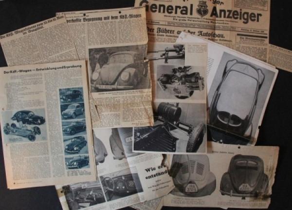 Volkswagen KdF- 15 original Zeitungsberichte 1939