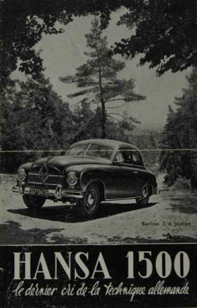 Borgward Hansa 1500 Modellprogramm 1951 Automobilprospekt