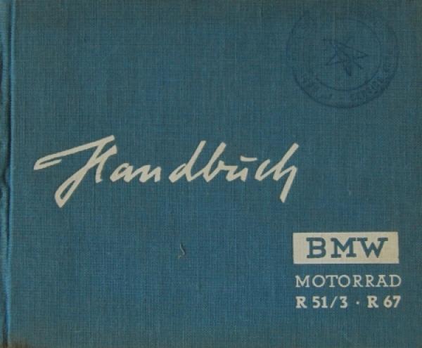 BMW Motorrad R51/3 - R67 Bedienungshandbuch 1951