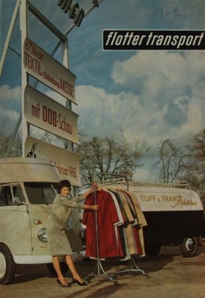 """Flotter Transport"" Volkswagen-Transporter Magazin 1962"