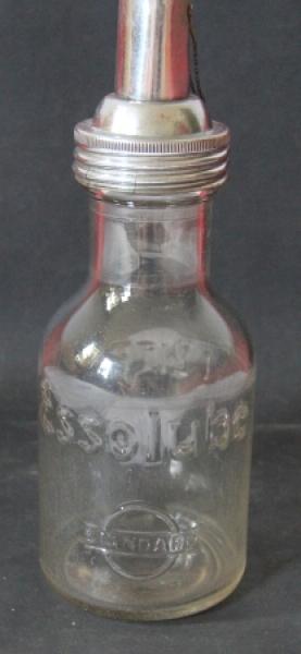 Esso Standard Motoroel 1 Liter Glasflasche 1935 Esso Standard Motoroel 1 Liter Glasflasche 1935