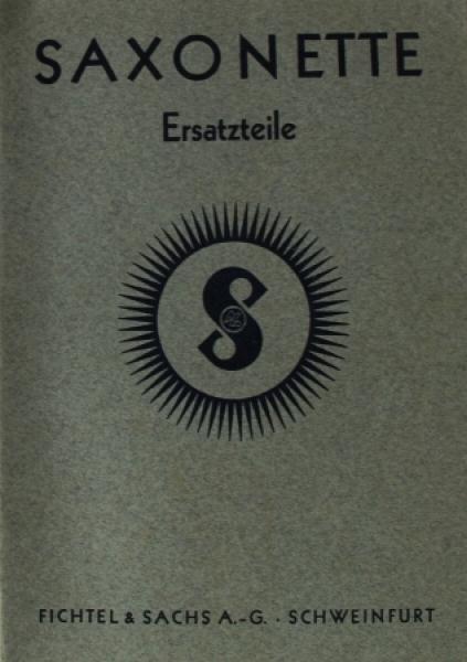 Fichtel & Sachs Saxonette Ersatzteilliste 1938