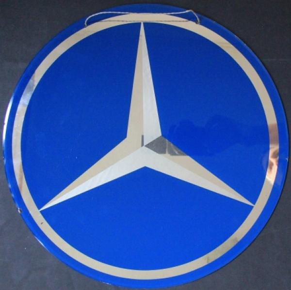Mercedes-Benz Werbelogo aus Glas 1951