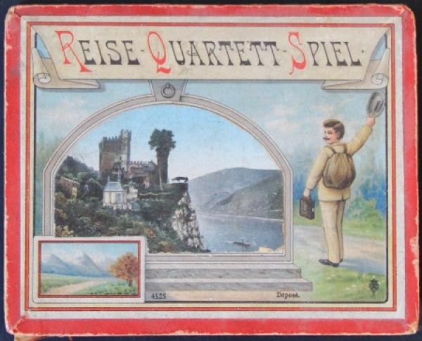 """Reise Quartett Spiel """"Deutschland"""" in Originalbox 1900"""