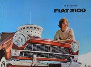 Fiat 2100 Modellprogramm 1960 Automobilprospekt