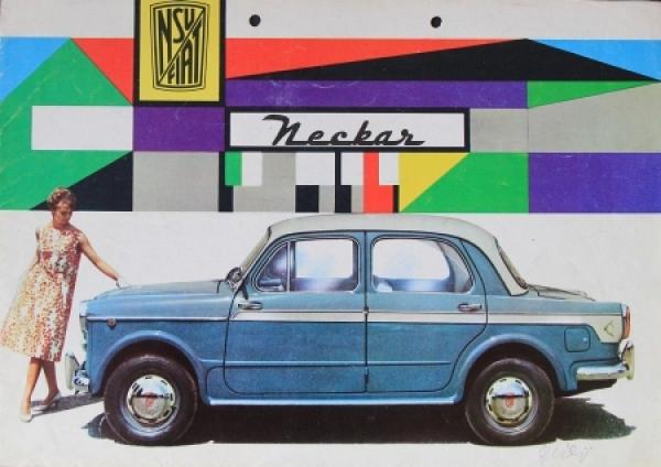 Fiat NSU Neckar Modellprogramm 1959 Automobilprospekt