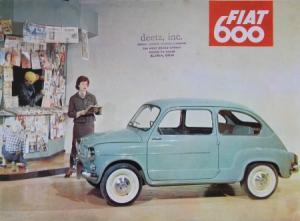 Fiat 600 Modellprogramm 1956 Automobilprospekt