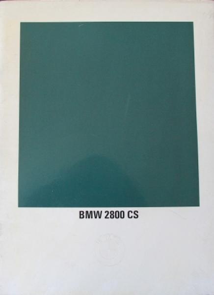 BMW 2800 CS Modellprogramm 1969 Automobilprospekt