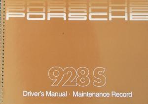 Porsche 928 S Betriebsanleitung 1983