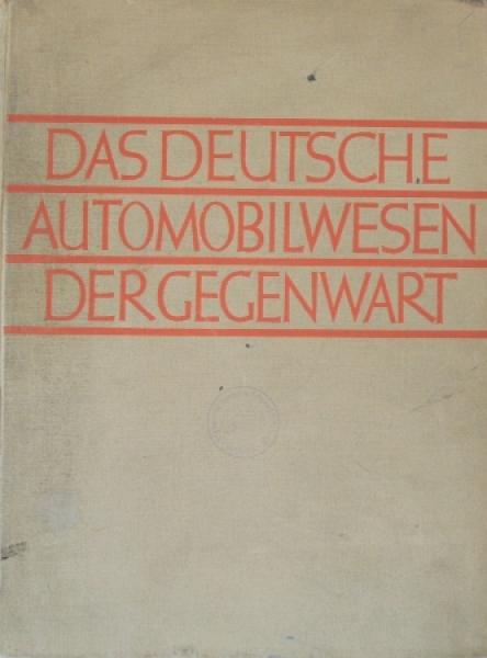 """Allmers """"Das deutsche Automobilwesen der Gegenwart"""" Fahrzeughistorie 1928"""