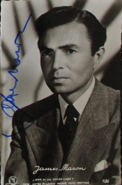 James Mason original signierte Autogrammkarte 1953