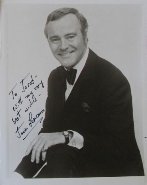 Jack Lemmon original signierte Autogrammkarte 1978