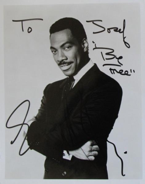 Eddie Murphy original signierte Autogrammkarte 1986