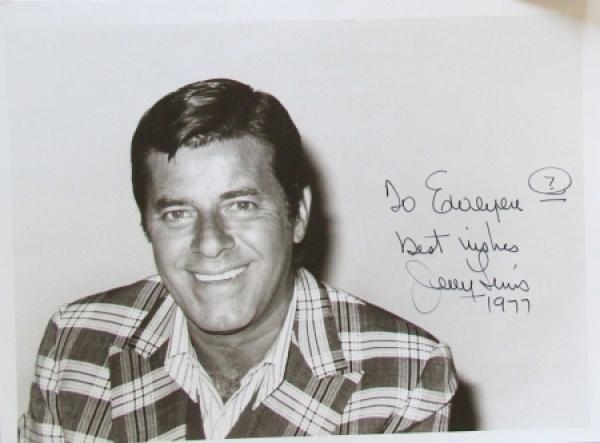 Jerry Lewis original signierte Autogrammkarte 1977