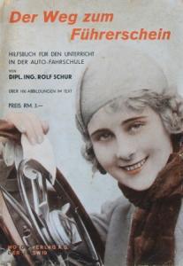 """Schur """"Der Weg zum Führerschein"""" Fahrzeugtechnik 1930"""