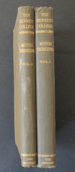 """Jones """"Motor Engineering"""" 2 Bände Fahrzeugtechnik 1912"""