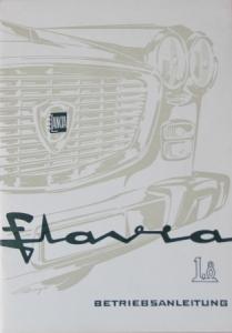 Lancia Flavia 1.8 Betriebsanleitung 1965