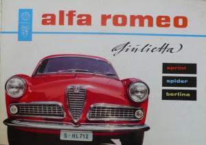 Alfa Romeo Gilulietta Sprint-Spider 1959 Automobilprospekt
