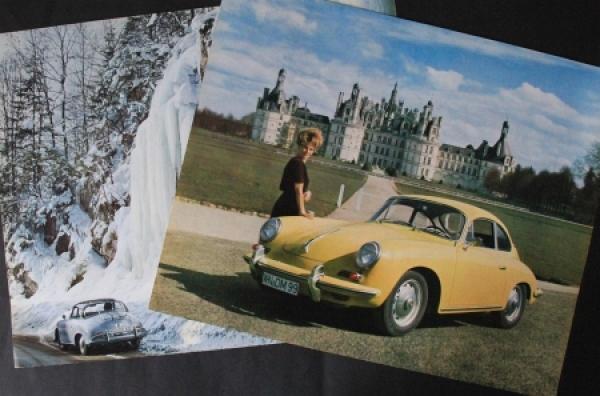 Porsche 356 zwei Kalenderblätter 1962