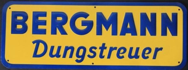 Bergmann Dungstreuer Werbe-Blechschild 1970