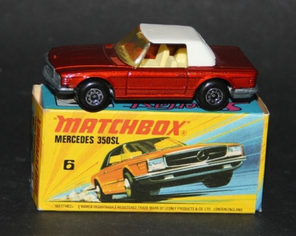 Matchbox Superfast Mercedes-Benz 350 SL 1973 Metall in Original Box