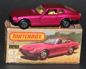 Matchbox Superfast Datsun 260 Z 2x2 1978 Metall in Original Box