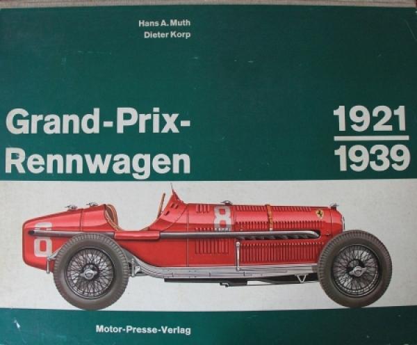 """Muth """"Grand Prix Rennwagen 1921-1939"""" Motorsport-Historie 1963"""