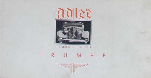 Adler Trumpf 1,7 Liter 1934 Reuters Automobilprospekt