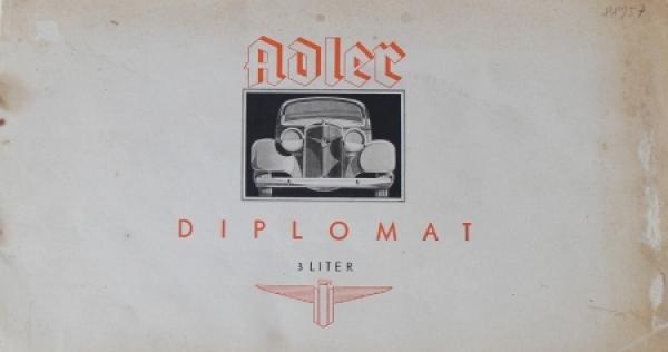 Adler Diplomat 3 Liter 1934 Reuters Automobilprospekt