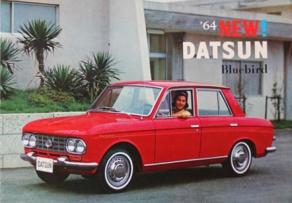Datsun Bluebird Modellprogramm 1964 Automobilprospekt