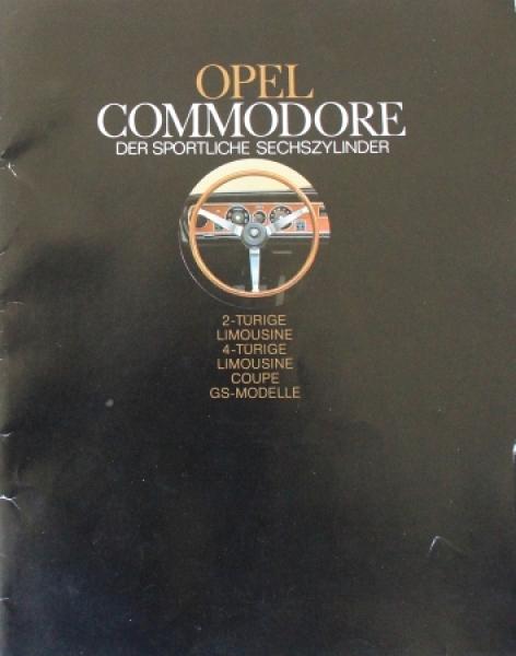 """Opel Commodore """"Der sportliche Sechzylinder"""" 1968 Automobilprospekt"""