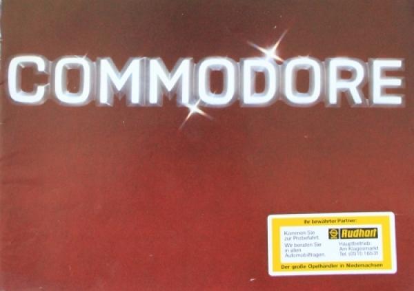 Opel Commodore Modellprogramm 1976 Automobilprospekt