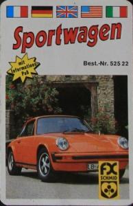 """Schmid Spiele """"Sportwagen"""" Kartenspiel 1978"""