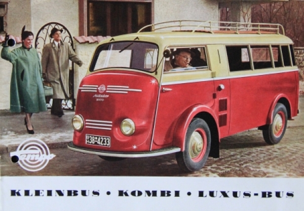 Tempo Matador Kleinbus - Kombi 1953 Automobilprospekt