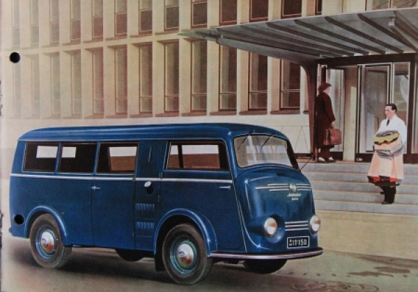 Tempo Matador Kleinbus - Kombi 1953 Automobilprospekt 2