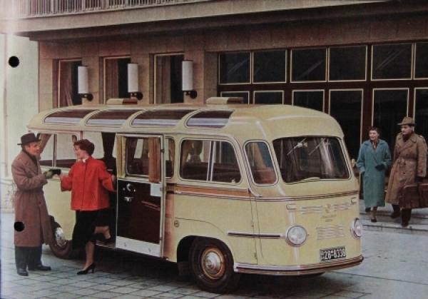 Tempo Matador Kleinbus - Kombi 1953 Automobilprospekt 3