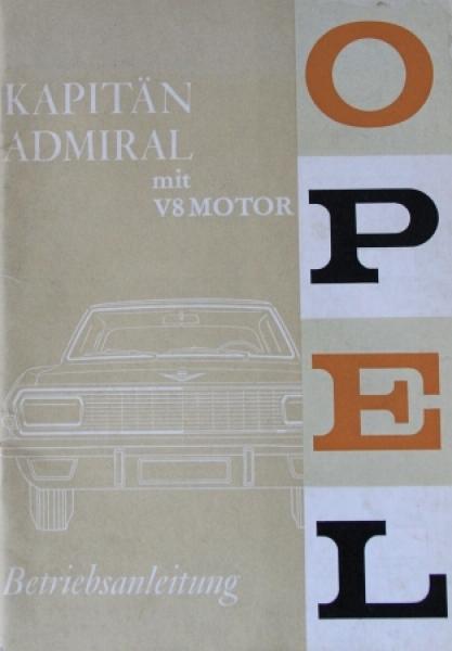 Opel Kapitän-Admiral mit V8 Motor 1965 Betriebsanleitung