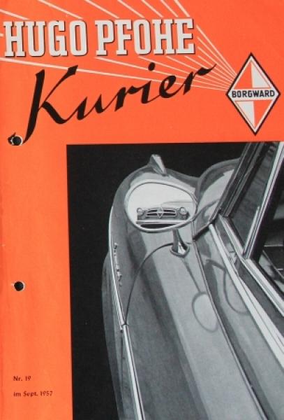"""Pfohe Kurier"" Borgward-Magazin 1957"