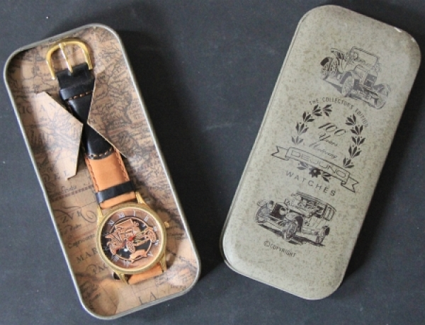"DeJuno Watches Collectors Edition ""100 years motoring"" Armbanduhr 1986"