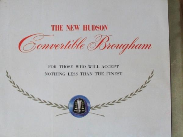 Hudson Convertible Brougham 1948 Automobilprospekt