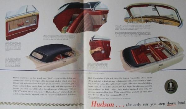 Hudson Convertible Brougham 1948 Automobilprospekt 2